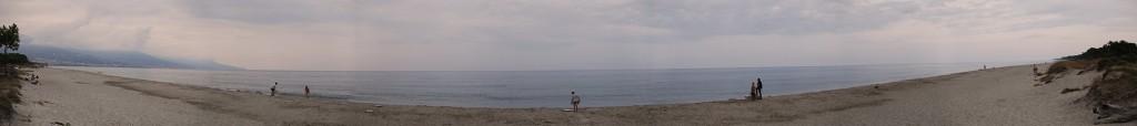 Plaża w San Damiano - panorama