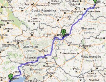 Droga z Krakowa do Wenecji