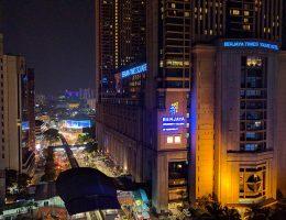 Kuala Lumpur - widok z 12 piętra hotelu Metro Bukit Bintang