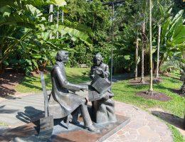 Singapur - Ogród botaniczny - pomnik Fryderyka Chopina