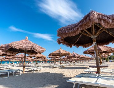 Spiaggia San Lorenzo - Lido Beach Aqua - rewelacyjne parasole