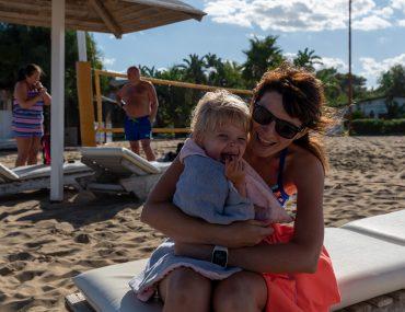 Katania - plaża Le Capannine - ja z Małgosią