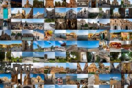 Mozaika zdjęć zrobionych na Sycylii