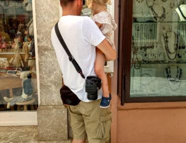 Window shopping, czyli podziwiamy wystawy sklepów z zabawkami.
