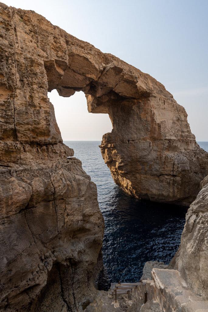 Gozo - okno Wied Il-Mielaħ