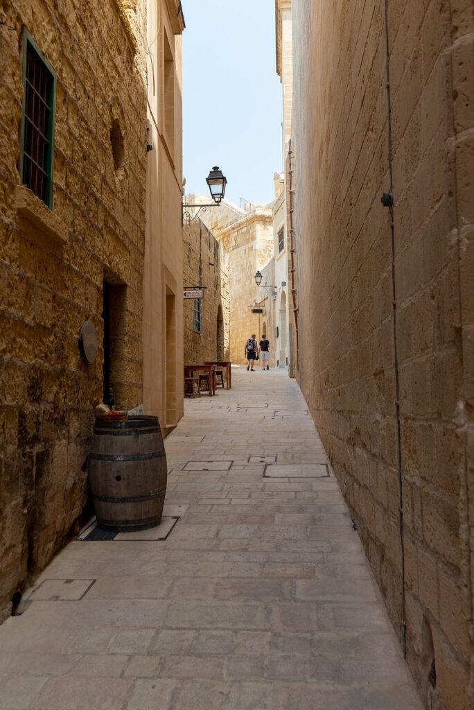 Rabat (Gozo) - Cytadela i jej wąskie uliczki