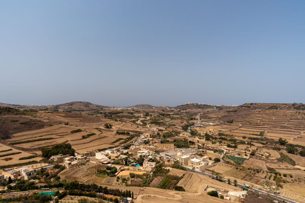 Rabat (Gozo) - Cytadela - panorama wyspy