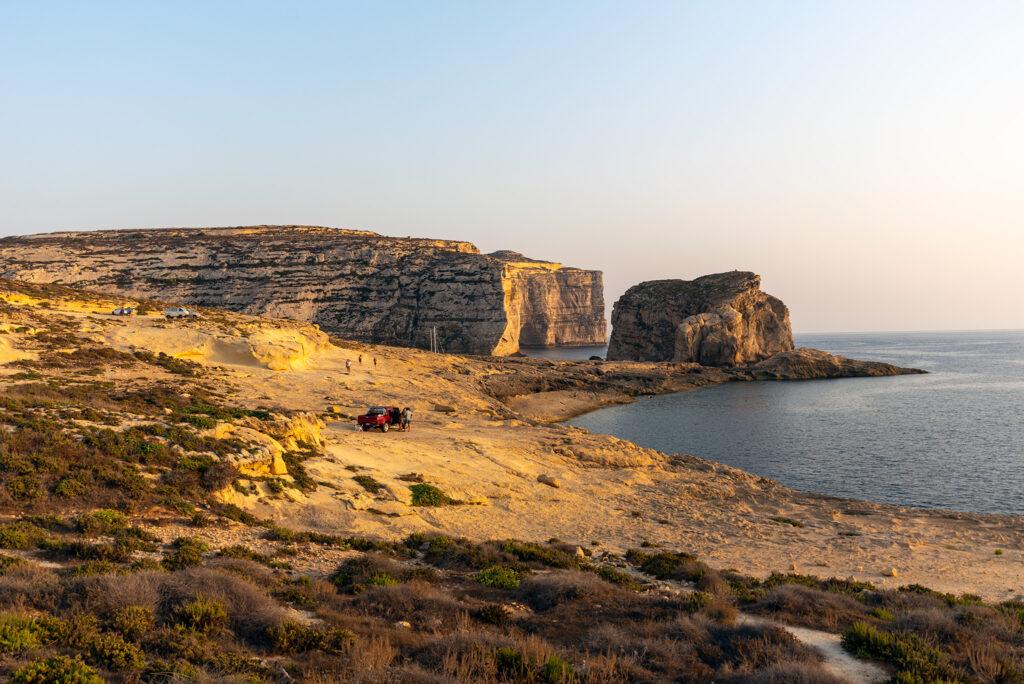 Gozo - Dwejra - zachód słońca