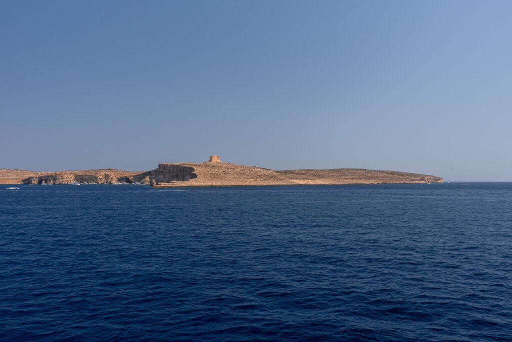 Na promie Gozo - Malta: po drodze mijamy Comino