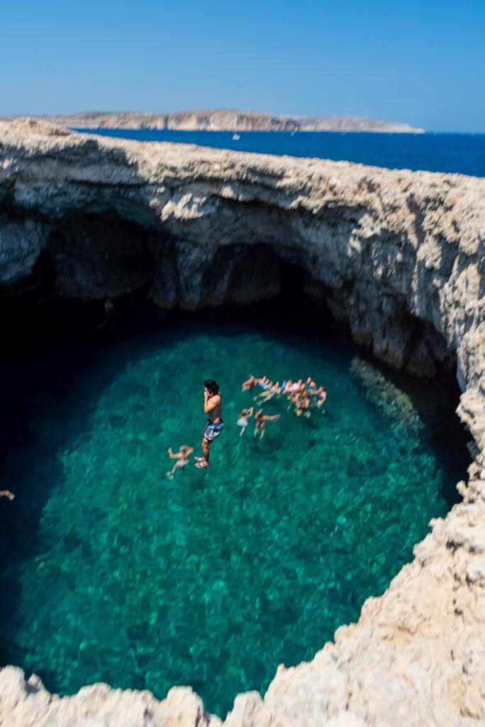 Malta - Coral Lagoon - skoczek nr 1
