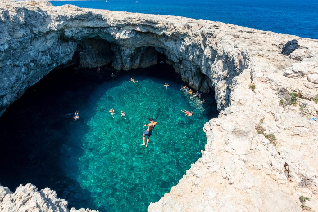 Malta - Coral Lagoon - skoczek nr 2