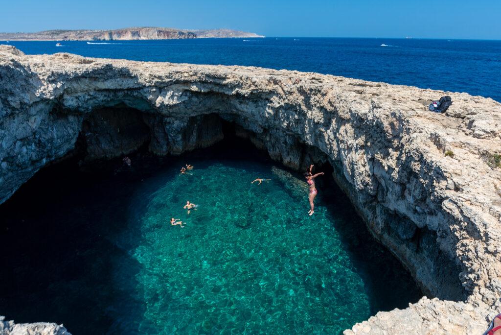 Malta - Coral Lagoon - skoczek nr 3